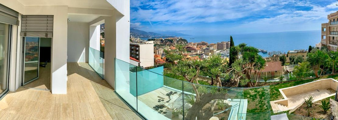 View of Mediterranean from balcony - CAP D'AIL Residence - Kristal SA
